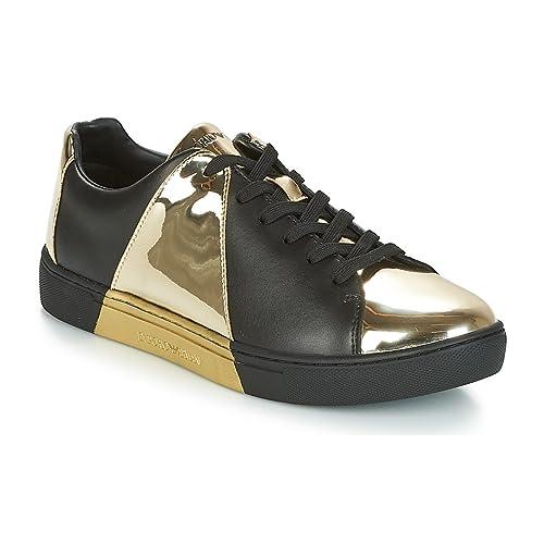 be8e3814152c45 Emporio Armani DI Giorgio Armani Sneakers Women Black Gold 40   Amazon.co.uk  Shoes   Bags