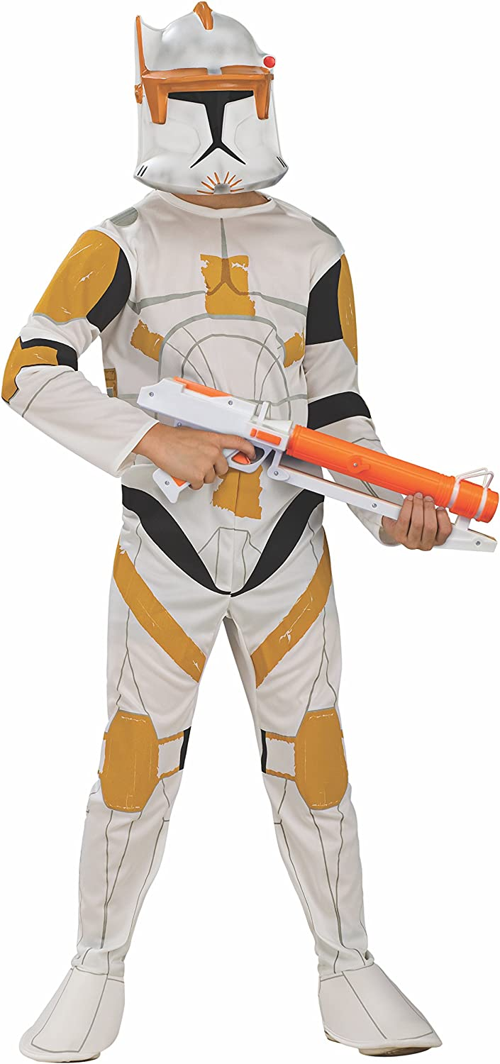 Star Wars Clone Wars Clone Trooper Child Commander Cody Costume Small Size 4-6