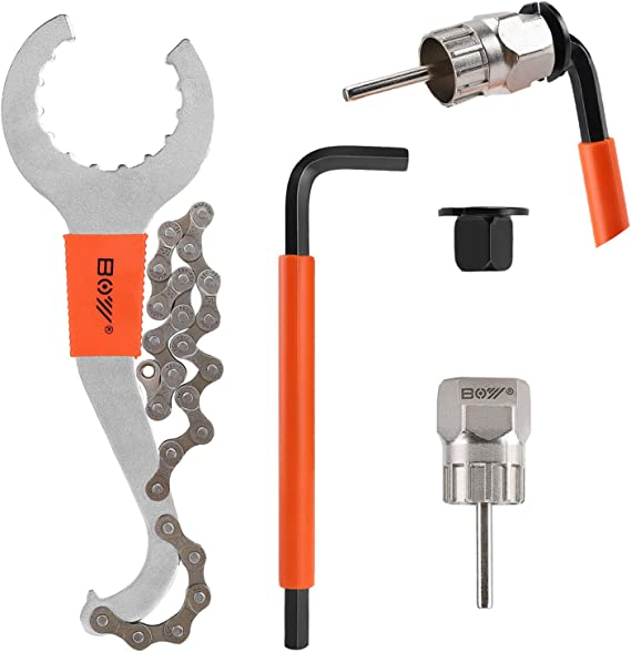 QKURT Bike Chain Tool Kits Bicycle Cassette Removal Tool+Auxiliary Lockring