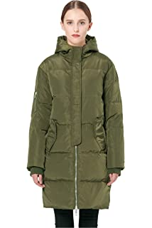 5910e5466b71e Orolay Women s Thickened Down Jacket Puffer Coat with Hood - Beige ...