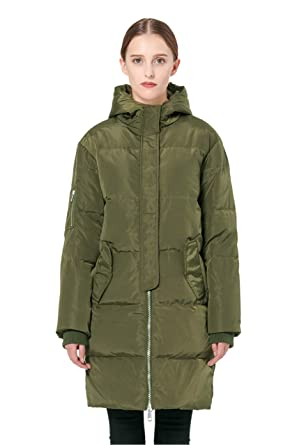 6b1b1b820 Amazon.com  Orolay Women s Thicken Plus Size Down Jacket Hooded Coat ...