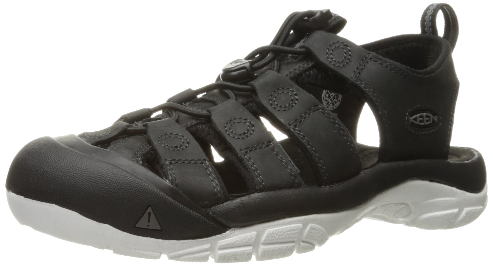 KEEN Women's Newport ATV Hiking Sandal, Black/Star White, 9 M US
