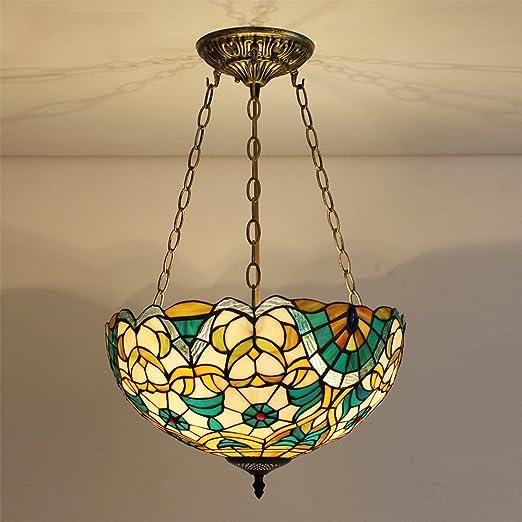 Amazon.com: TOYM-Tiffany - Lámpara de araña de hierro para ...