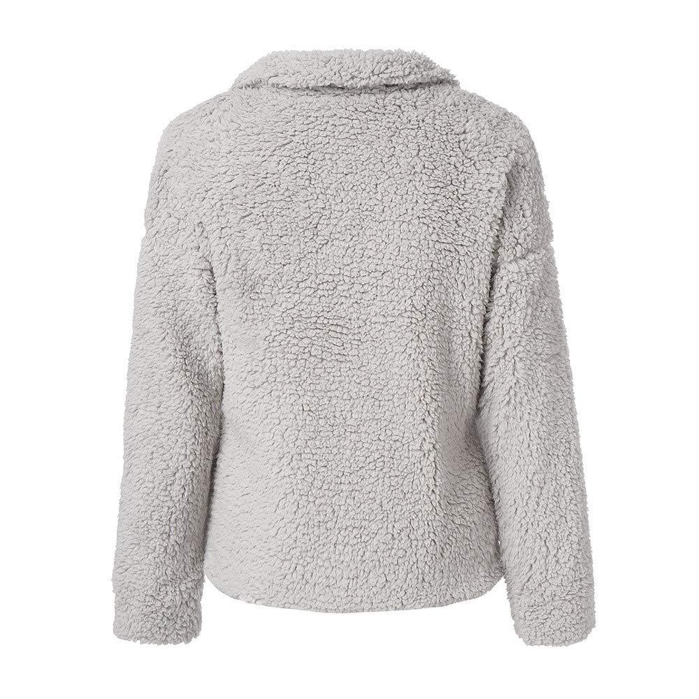 ❤ Abrigo de Invierno de Las Mujeres de Felpa, 2018 Abrigo de Las Mujeres Abrigo de Invierno cálido de Lana de la Blusa de la Capa de algodón Absolute: ...