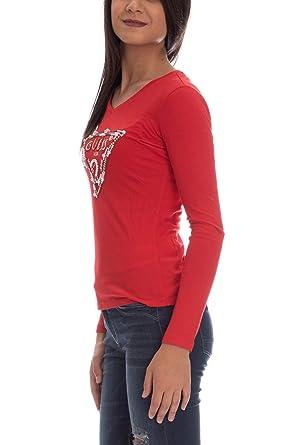 e7223d9c1926 Guess Pearls, Long Sleeve T-Shirt for Women: Amazon.co.uk: Clothing