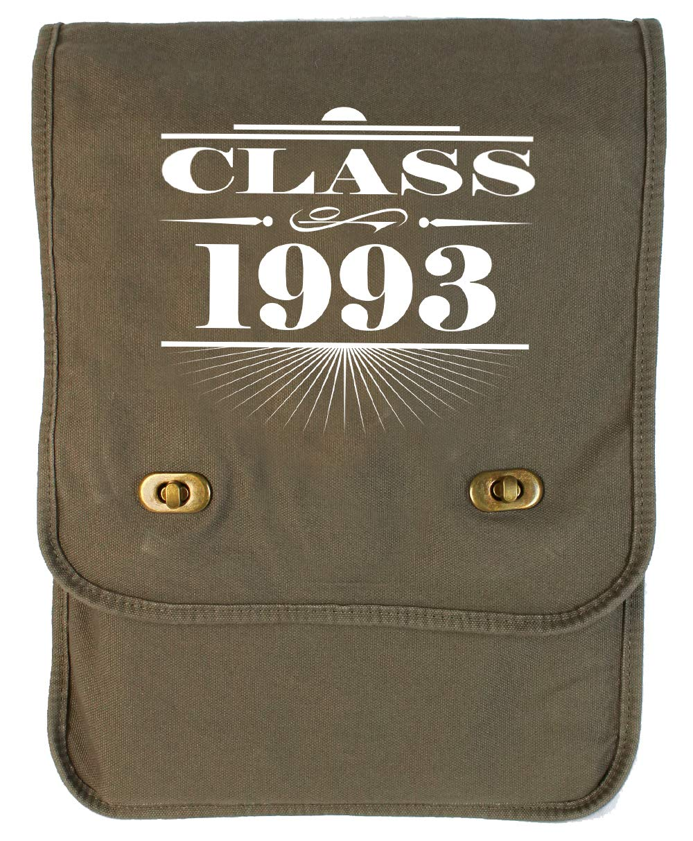 Tenacitee Art Deco Class of 1993 Red Brushed Canvas Messenger Bag