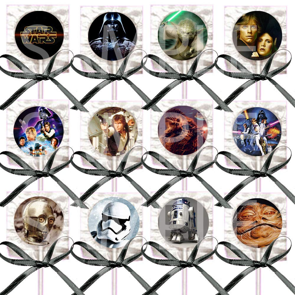 Star Wars Lollipops – 12 piezas de regalos de fiesta con ...