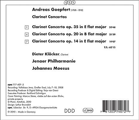 Andreas Goepfert Johannes Moesus Jenauer Philharmonie Dieter