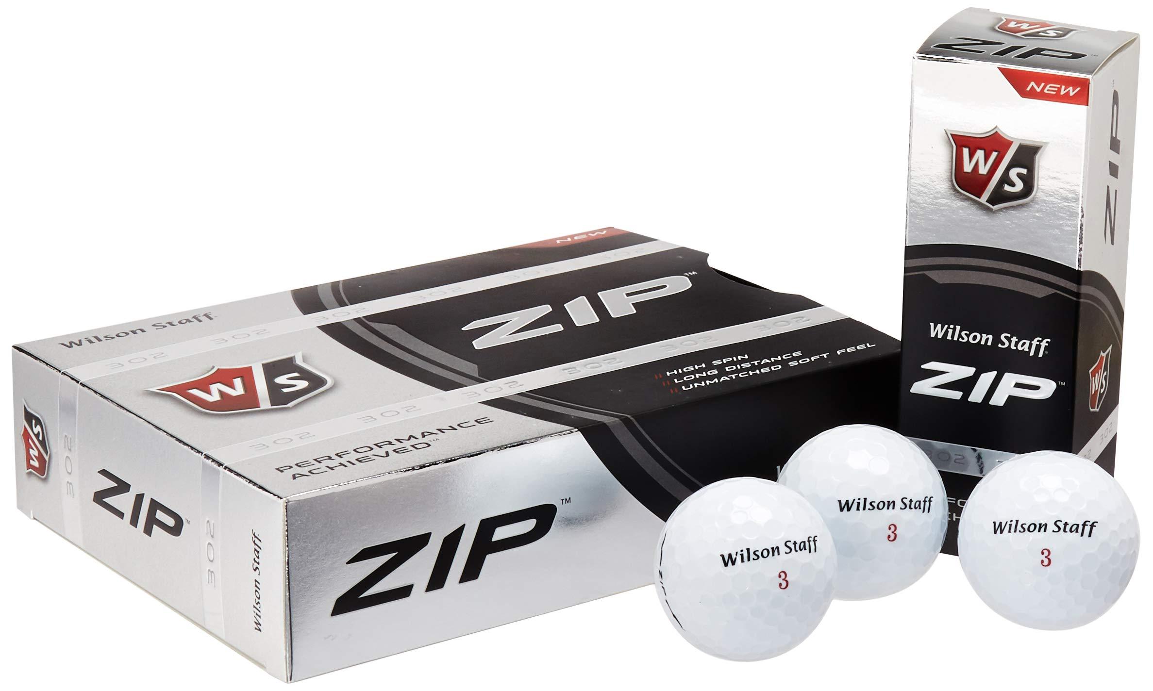 Wilson ZIP Double Dozen Golf Balls, Pack of 24 (White) by Wilson