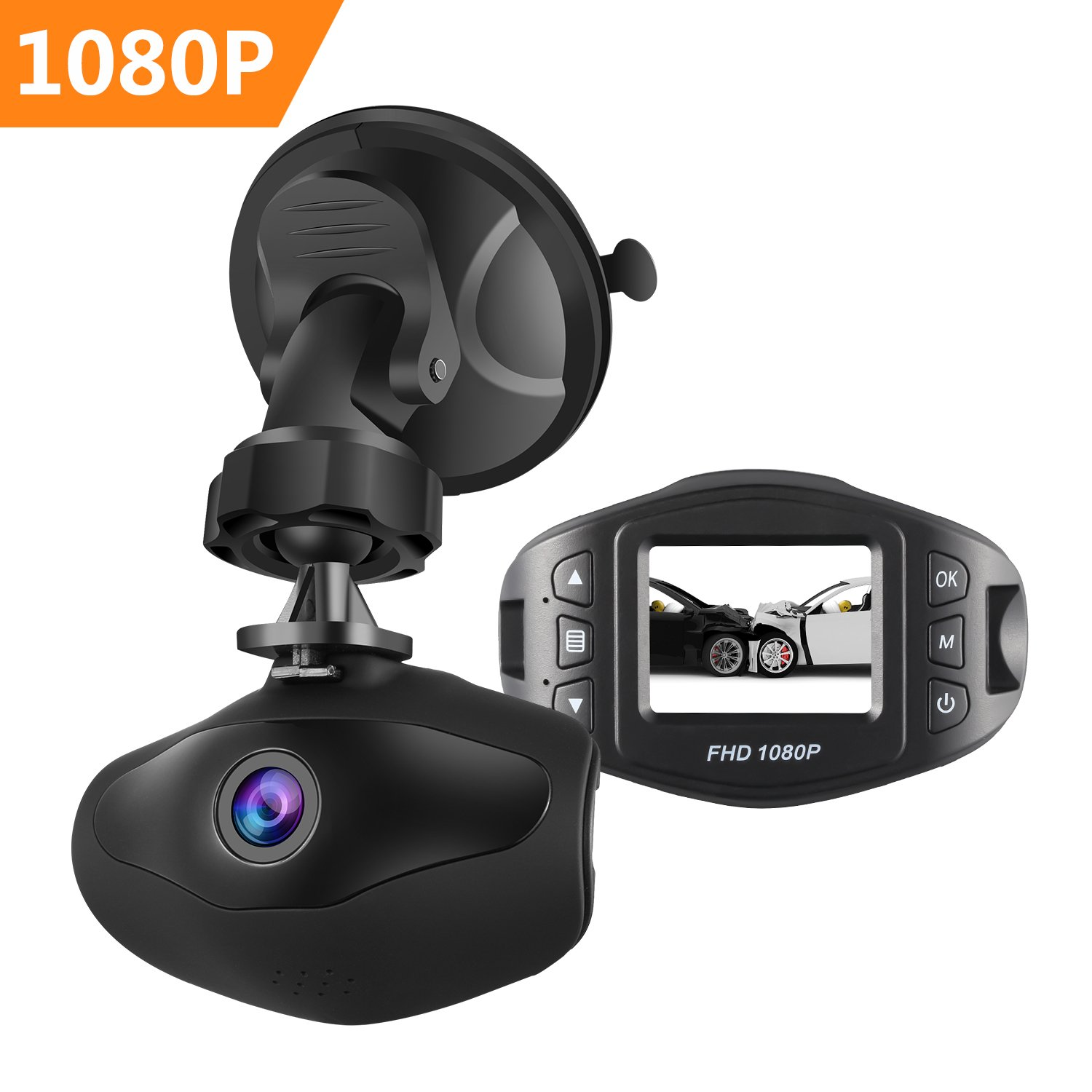 sendow mini dash camera fhd 1080p 6g lens 170 view angle. Black Bedroom Furniture Sets. Home Design Ideas