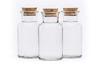 20 Pieces 250 Ml Glass Container With Cork Lid Glasses Pickling Jar