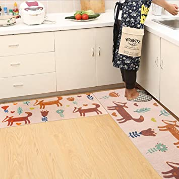 Amazon.com: Ukeler Kitchen Rug Set,kitchen Floor Rug Washable Floor ...