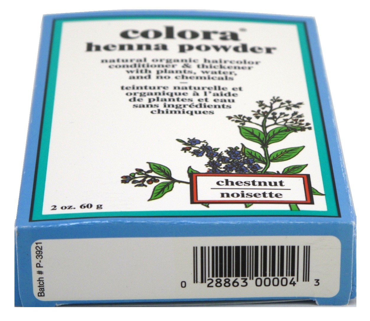 Colora Henna Powder Hair Color Chestnut 2oz (3 Pack) by Colora Henna