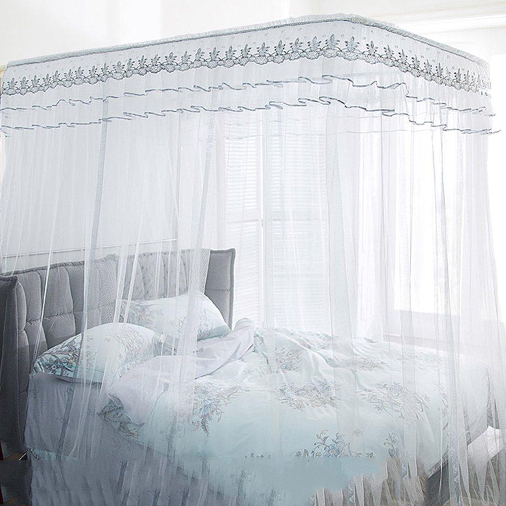 Moskitonetze U-Typ verstellbar weiß Verstärkter Bügel 2,1 2,2 Meter 2,1 Bügel Meter hoch großer Raum Nicht schütteln Nicht durchhängen Wetter- & Sichtschutz (Größe : 1.5 m (5 ft) Bed) 4cf435