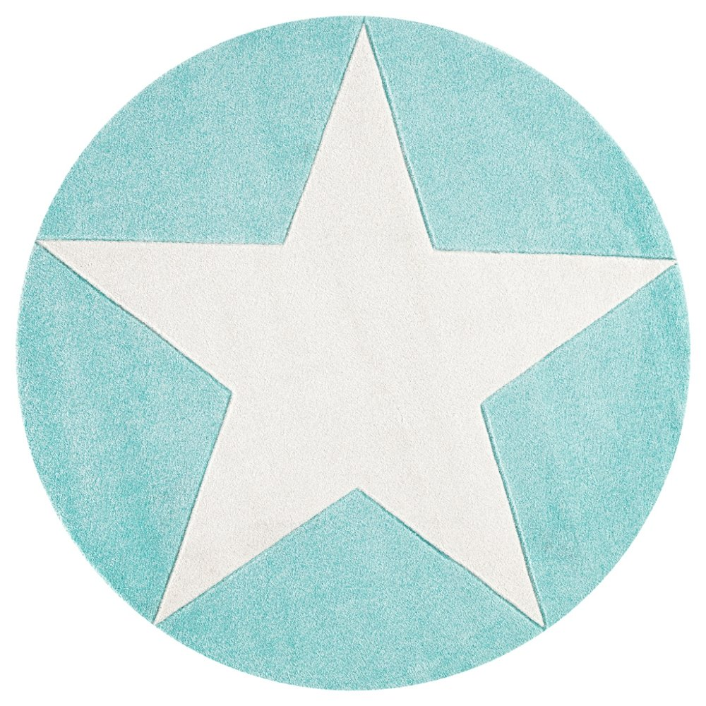 Livone Kinderteppich Happy Rugs Star Mint 160cm rund