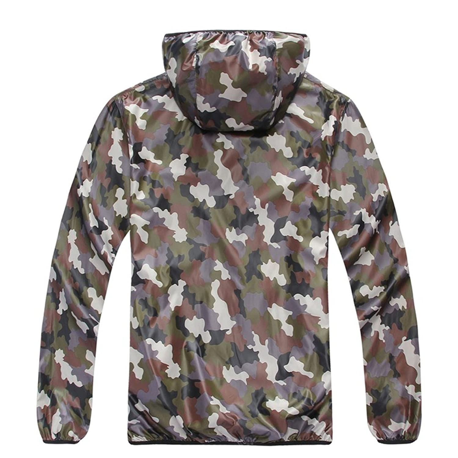 Zhhlinyuan Casual Men Zipper Wild Outdoor camouflage clothing Quick-Drying Jacket
