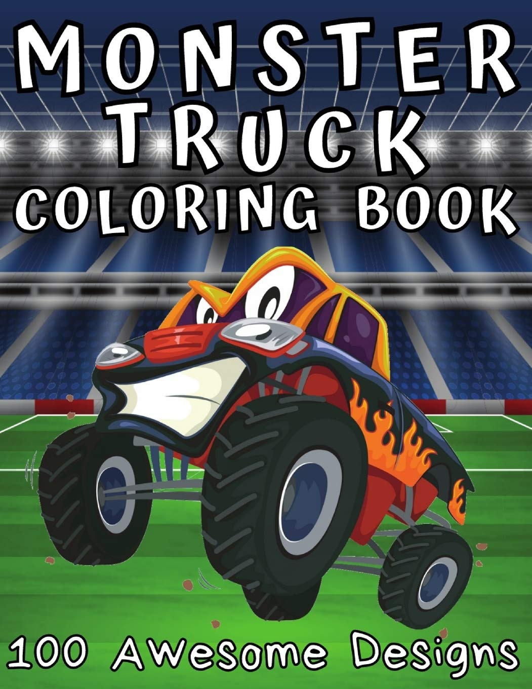 Monster Truck Coloring Book 18 Awesome Designs Coloring Book For ...