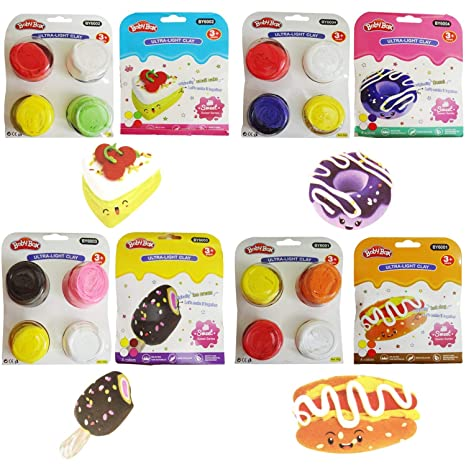 Party Factory Set Of 6 Food Clay Birthday Return Gifts For Kids