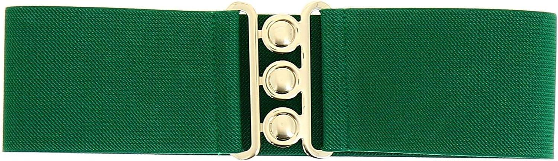 FASHIONGEN Wide Waist Elasticated Woman Belt GLORIA Made in France