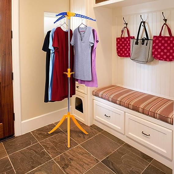 Amazon.com: Binxin - Perchero de doble raíl para ropa ...