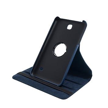 Drehbare Hülle mit Standfunktion für Samsung Galaxy Tab 4 7.0 in BLAU mit automatischer Sleep- und Wake-Up-Funktion [passend