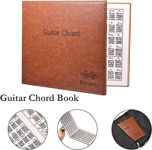 XuBa Guitarra Chord Book Chart portátil Libro de Tapa Blanda para ...
