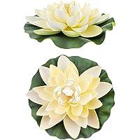 Euro Flora Krem Rengi Yapay Nilüfer Çiçeği 28x7 Cm