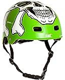 AWE® MEET YOUR MAKER™ BMX Verde 55-59cm del casco REEMPLAZO LIBRE de 5 AÑOS del CRASH *