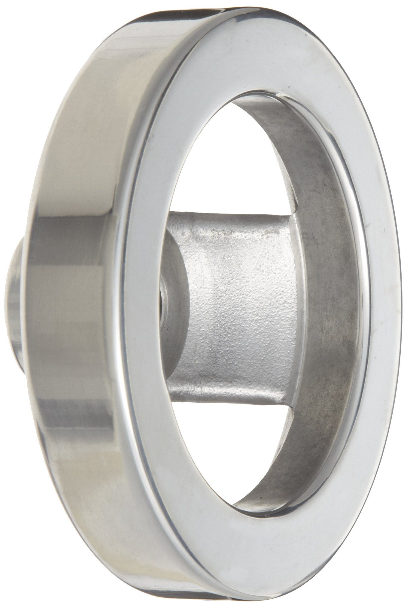 2 Spoked Polished Aluminum Dished Hand Wheel without Handle, 4'' Diameter, 1/2'' Hole Diameter, (Pack of 1)