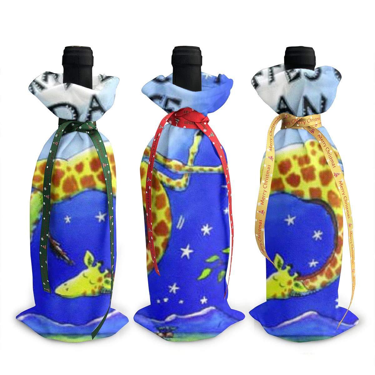 Giraffes Can't Dance ワイン トートキャリアバッグ/財布 旅行、キャンプ、ピクニック用 3個セット B07K4QN1X5