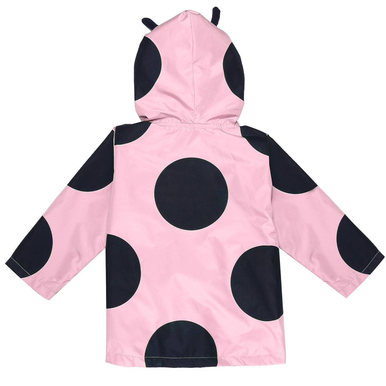 1fce02642 Arshiner Girls Kids Rain Jacket Outwear Raincoat Waterproof Hoodies ...