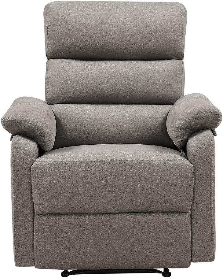 Amazon Com Recliner Chair Lazy Boy Recliner Manual Recliners For Living Room And Lounge Ergonomic Lounge Chair With Grey Fabric Grey Kitchen Dining