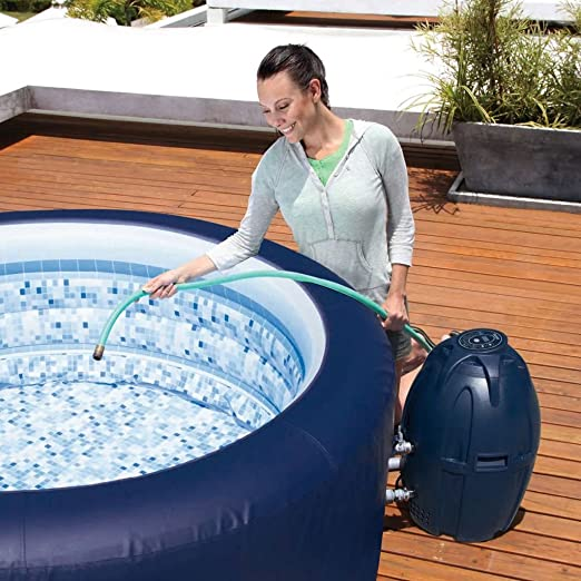 XINGLIEU Whirlpool SPA Hinchable 4 Personas Exterior ...