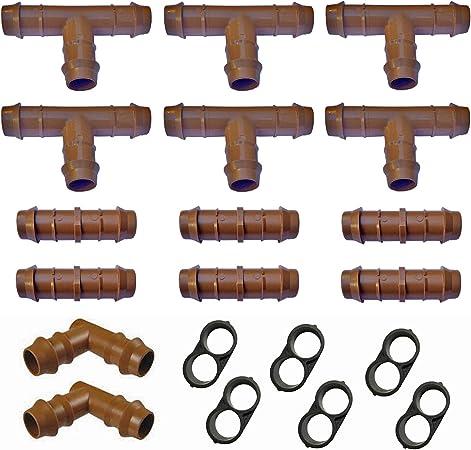E-BEST-OFFER Embouts barbel/és pour Micro-Irrigation 4 mm