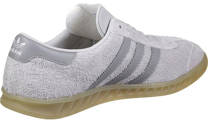 Adidas Hamburg Sneaker Damen weiß mit grauen Stripes