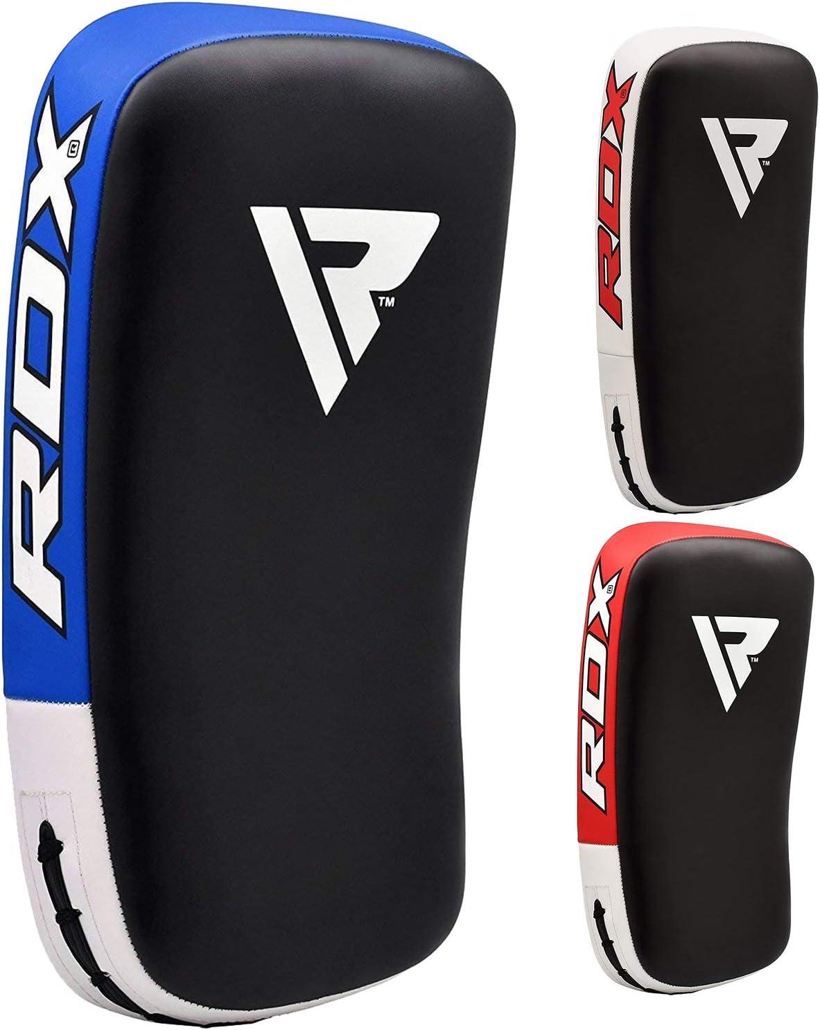 RDX Muay Thai Pad for Training | Curved Kickboxing Kicking Strike Shield | Coaching Kick Boxing, MMA, Martial Arts, Karate, Taekwondo | Punching, Foot, Knee and Elbow Target (1 Pcs Sold AS Single)