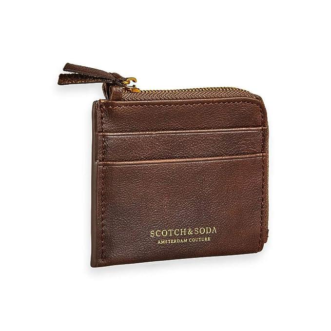 Amazon.com: Scotch & Soda - Monedero de piel marrón ...