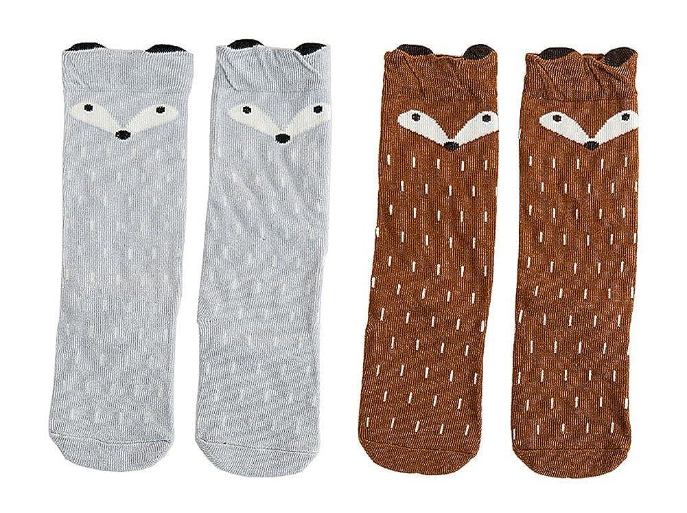Toddler Socks Cotton Animal Cartoon Unisex Baby Boys Girls Knee High Socks