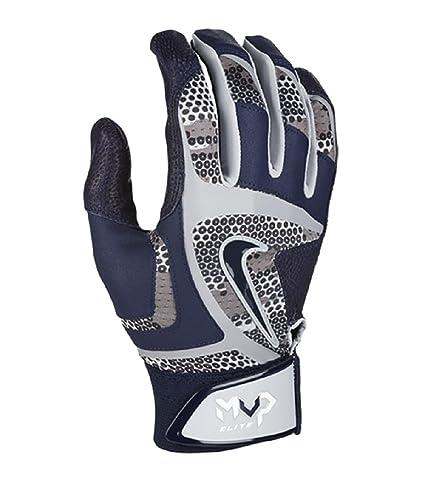 Nike MVP Edge Adult Unisex Invtedible Grip Batting Gloves Wolf Grey/College  Navy/White