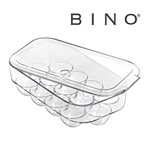 BINO Plastic Egg Holder with Lid for Kitchen - 13 Egg Holder For Refrigerator