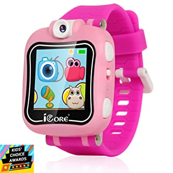 iCore Durable Kids Smartwatch, Kids Camera, Electronics Smart Watch for Kids Girls, Games for Kids Ages 4-8 Children Digital Watches, Built in ...