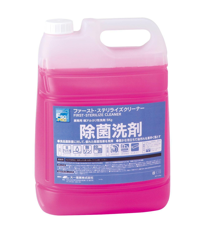 業務用  除菌洗剤  ファーストステリライズクリーナー  5kg×3本入 B00R5SVP3Q