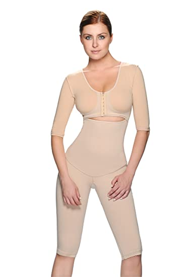 50cc12bdfe Image Unavailable. Image not available for. Color  Vedette Caprice Full  Body Shaper w  Sleeves 325
