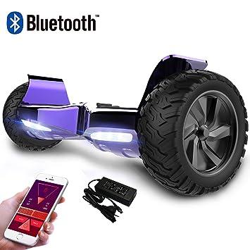 RCB Scooter de Auto-Equilibrio Off-Road Patinete Eléctrico Todo Terreno Hummer de 8.5 Pulgadas con Bluetooth App LED Motor Potente 2 * 350W