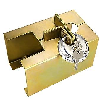 Homdox Bloqueo de Remolque, Candado Cerradura para Coches, Bloqueo para remolque de alta seguridad,con 2 Llaves: Amazon.es: Coche y moto