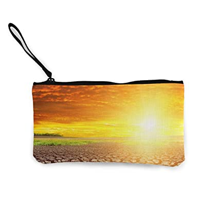 Amazon.com: Monedero de lona con cremallera, diseño de nubes ...