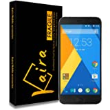Kaira ZUK Z1_1 2.5D Curved Edge Ultra HD+ 9H Hardness Premium Tempered Glass For Lenovo ZUK Z1 - Retail Packaging - Transparent With Light Sensor , Camera Cutting