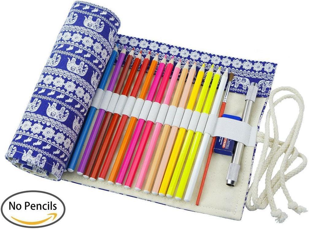 per artisti Astuccio porta-matite arrotolabile in tela scuola e ufficio 62 * 21 cm 48 Holes Fablcrew