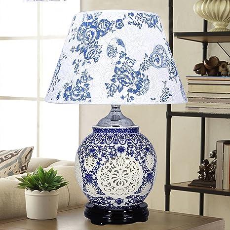 CAIJUN Ceramica camera da letto lampada da tavolo moderne lampade da ...