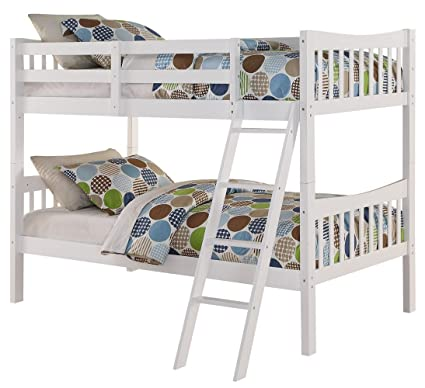 Amazon Com Angel Line Fremont Twin Over Twin Bunk Bed White
